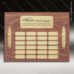 The Morvilla Laminate Walnut Perpetual Plaque  24 Gold Plates Medium Perpetual Plaques - 24-36 Plates