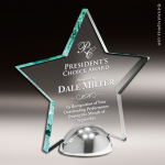 Acrylic Metal Accented Star Hemisphere Trophy Award Metal Accented Acrylic Awards