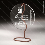 Acrylic Metal Accented Wired Hanging Round Circle Trophy Award Metal Accented Acrylic Awards