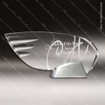 Acrylic Silver Accented Retro Wing Trophy Award Metal Accented Acrylic Awards