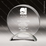 Acrylic Silver Accented Clear Circle Investment Trophy Award Metal Accented Acrylic Awards