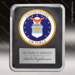Engraved Metal Stainless Steal Plaque US Air Force Seal Military Metal Finish Plaques