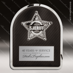 Engraved Metal Stainless Steal Plaque Sherrif's Department Badge Metal Finish Plaques