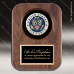Engraved Walnut Plaque Recessed US Air Force Insignia Award Military Trophy Awards