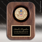 Engraved Walnut Plaque Recessed US Army Insignia Wall Placard Award Military Trophy Awards