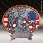 Premium Resin Legend Series Oval National Guard Trophy Award - Minute Man Military Trophy Awards
