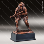 Premium Resin Bronze American Hero Military US Army Marine Soldier Trophy A Military Trophy Awards