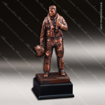 Premium Resin Bronze American Hero Military US Air Force Trophy Award Military Trophy Awards