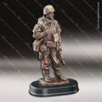 Premium Resin Bronze American Hero Military US Army Soldier Trophy Award Military Trophy Awards