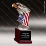 Kids Resin Silver Hand Painted Eagle American Flag Trophy Award Military Trophy Awards