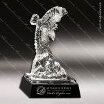 Crystal Black Accented Spirit Eagle Glass Trophy Award Military Trophy Awards