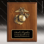 Engraved Walnut Plaque Black Plate Marines Military Wall Placard Award Military Trophy Awards