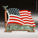 Premium Resin American Service Plate Series American Flag Trophy Award Military Trophy Awards
