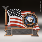 Premium Resin American Service Plate Series Navy Trophy Award Military Trophy Awards