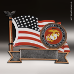 Premium Resin American Service Plate Series Marines Trophy Award Military Trophy Awards