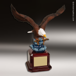 Premium Resin Hand Painted Color American Eagle Trophy Award Military Trophy Awards