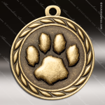 Medallion Sculpted Series Paw Print Medal Misc Medals