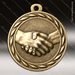 Medallion Sculpted Series Handshake Medal Misc Medals