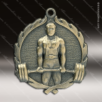 Medallion Wreath Series Weightlifting Medal - Male Misc Medals