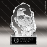 Crystal  Eagle On Base Trophy Award MPI Discount Trophy Crystal Trophy Awards