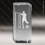 Crystal  Sport Soccer Trophy Award MPI Discount Trophy Crystal Trophy Awards