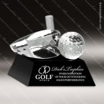 Crystal Sport Black Accented Golf Driver Trophy Award MPI Discount Trophy Crystal Trophy Awards
