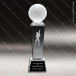 Crystal  Sport Softball Trophy Award MPI Discount Trophy Crystal Trophy Awards