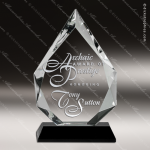 Crystal Black Accented Arrowhead Trophy Award MPI Discount Trophy Crystal Trophy Awards