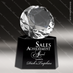 Crystal Black Accented Diamond Gem Trophy Award MPI Discount Trophy Crystal Trophy Awards