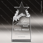Crystal  Star Mountain Trophy Award MPI Discount Trophy Crystal Trophy Awards