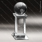 Crystal  Globe Tower Trophy Award MPI Discount Trophy Crystal Trophy Awards