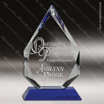 Crystal Blue Accented Arrowhead Trophy Award MPI Discount Trophy Crystal Trophy Awards