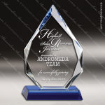 Crystal Blue Accented Arrowhead Crystal Trophy Award MPI Discount Trophy Crystal Trophy Awards