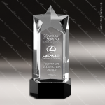 Crystal Black Accented Star Trophy Award MPI Discount Trophy Crystal Trophy Awards
