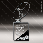 Crystal Sport Black Accented Silver Golfer Crystal Base Trophy Award MPI Discount Trophy Crystal Trophy Awards