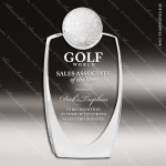 Crystal Sport Golf Ball 3D Self Standing Trophy Award MPI Discount Trophy Crystal Trophy Awards