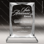 Crystal  Rectangle Bevel Edge Trophy Award MPI Discount Trophy Crystal Trophy Awards