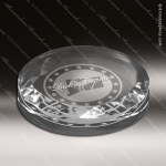 Crystal  Round Paperweight Trophy Award MPI Discount Trophy Crystal Trophy Awards