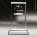 Crystal  Rectangle Trophy Award MPI Discount Trophy Crystal Trophy Awards