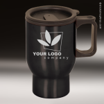 Black Stainless Steel Travel Mug Mugs
