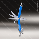 Laser Engraved Keychain Pocket Knife Multi-Tool 10 Function Blue Gift Award Multi-Tool & Knife Keychains