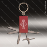 Laser Engraved Keychain Pocket Knife Multi-Tool 6 Function Red Gift Award Multi-Tool & Knife Keychains