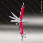 Laser Engraved Keychain Pocket Knife Multi-Tool 10 Function Red Gift Award Multi-Tool & Knife Keychains