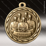 Medallion Sculpted Series Music Chorus Medal Music Medals