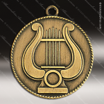 Medallion M90/M91 Series Music Lyre Medal Music Medals