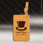 Embossed Etched Cork Luggage Tag Natural Cork Items