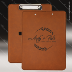 Embossed Etched Leather Clip Board - Rawhide Natural Rawhide Leather Items