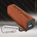 Embossed Etched Leather 2200mAh Power Bank -Rawhide Natural Rawhide Leather Items