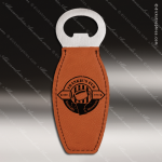 Embossed Etched Leather Magnetic Bottle Opener Rawhide Gift Natural Rawhide Leather Items