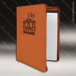 Embossed Etched Leather Portfolio With Zipper Rawhide Gift Natural Rawhide Leather Items